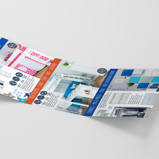 A6 tri fold range card - internal pages