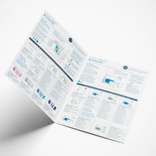 4 page A4 training manual - inside spread