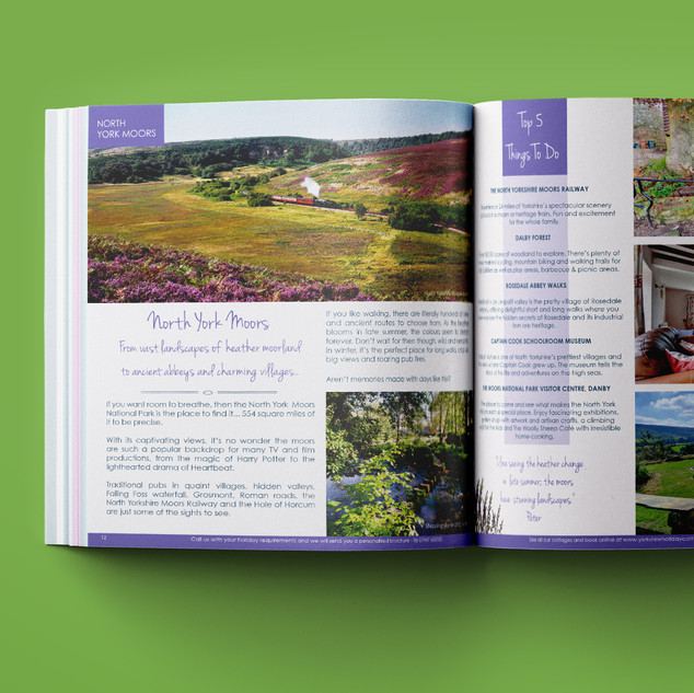 North Yorks Moors' double spread in the Inspirational Brochure