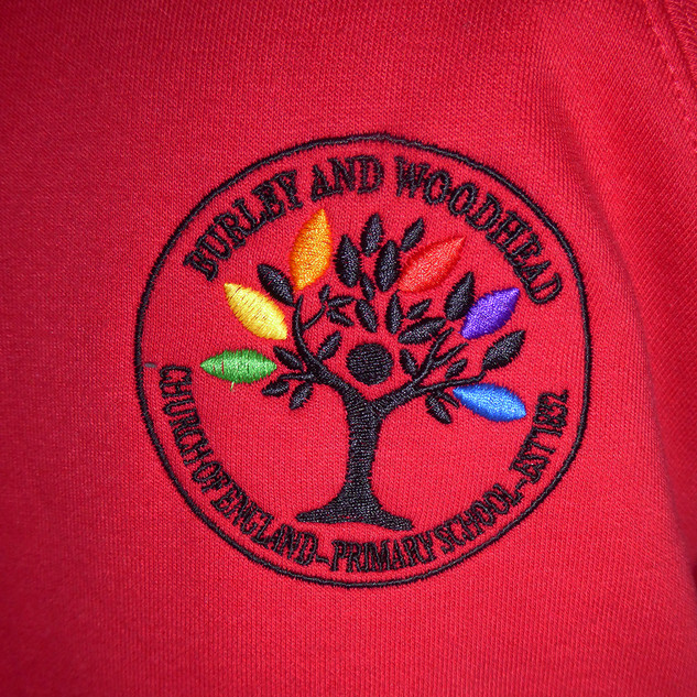 Burley and Woodhead C of E Primary School - Logo - Embroidered