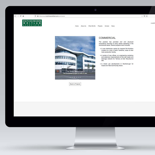 An Example of a Projects Page