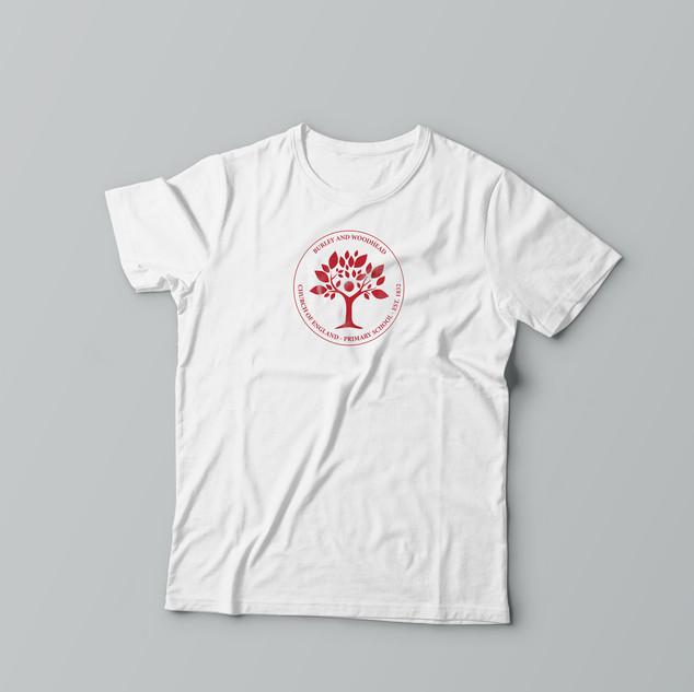 Burley and Woodhead C of E Primary School - Logo - PE T-Shirt