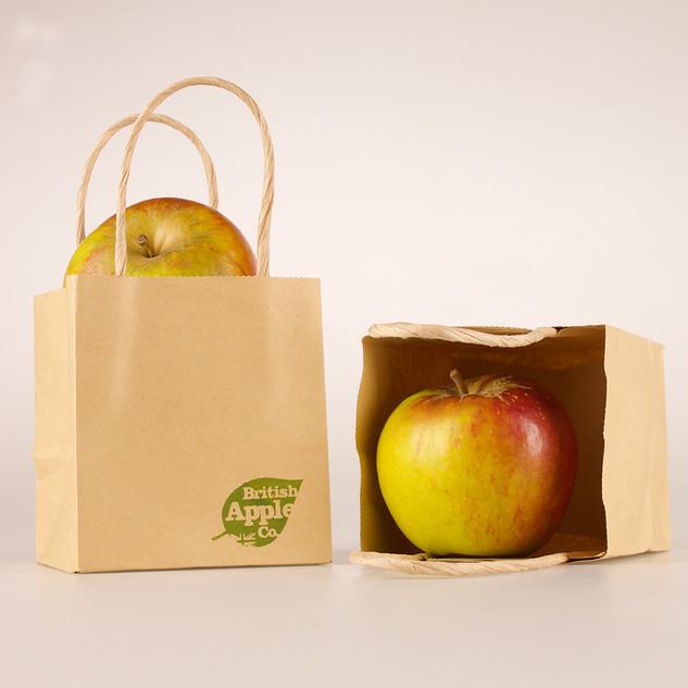 British Apple Co. - Branding - Screenprinted Bags