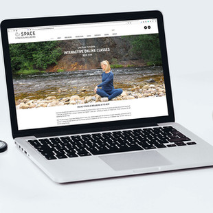 Home page design, Space Fitness & Wellbeing