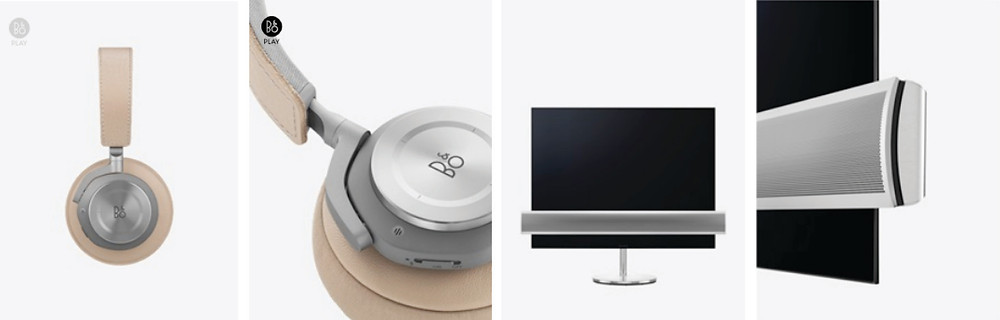 B&O Headphones and Televisions Product Images