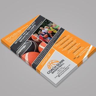 Coach Mark Gunn Basketball - A5 October Half Term Flyer - Front Cover