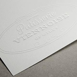 Patisserie Viennoise Logo Embossed