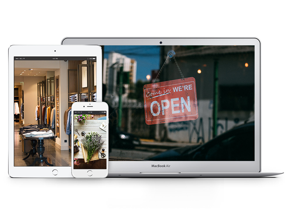 Your website is your shop window - devices with images