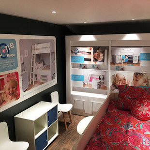 Large wall graphic and 4 graphics in display unit