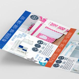 A6 tri fold range card - close up