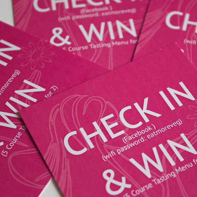 Prashad Check In & Win Cards