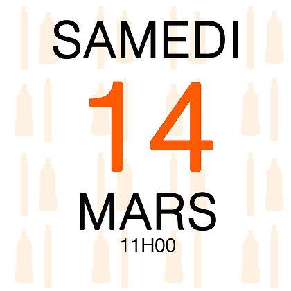 Atelier du Samedi 14 mars 2020, 11H00
