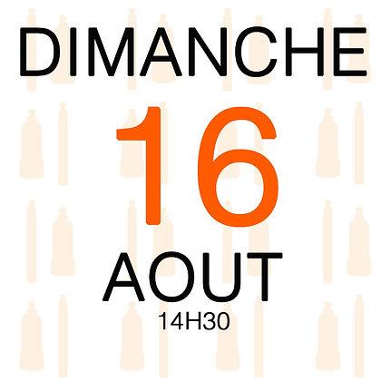 Atelier du Dimanche 16 aout 2020, 14H30