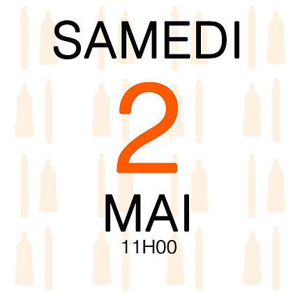 Atelier du Samedi 2 mai 2020, 11H00