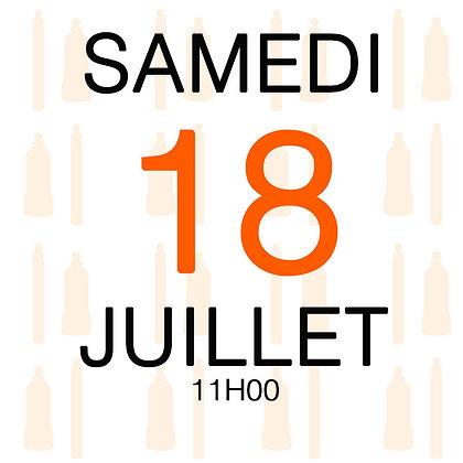 Atelier du Samedi 18 juillet 2020, 11H00