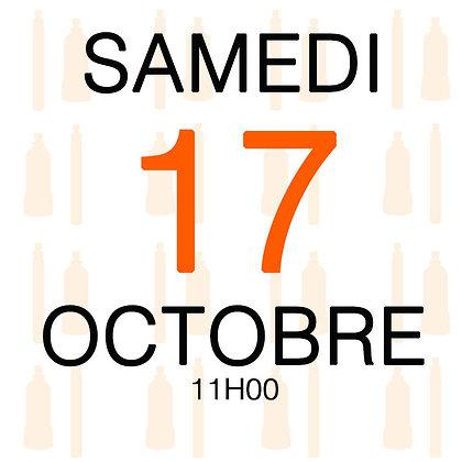 Atelier du Samedi 17 octobre 2020, 11H00