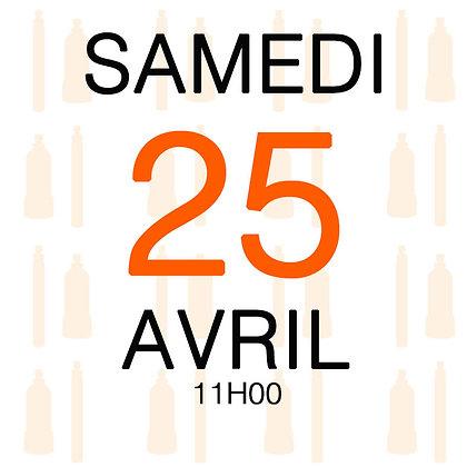 Atelier du Samedi 25 avril 2020, 11H00
