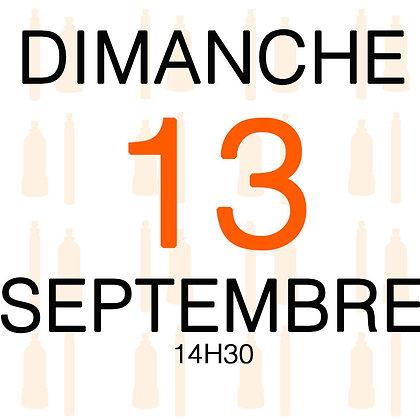 Atelier du Dimanche 13 septembre 2020, 14H30