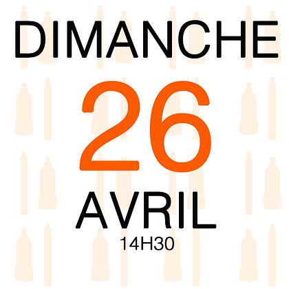 Atelier du Dimanche 26 avril 2020, 14H30