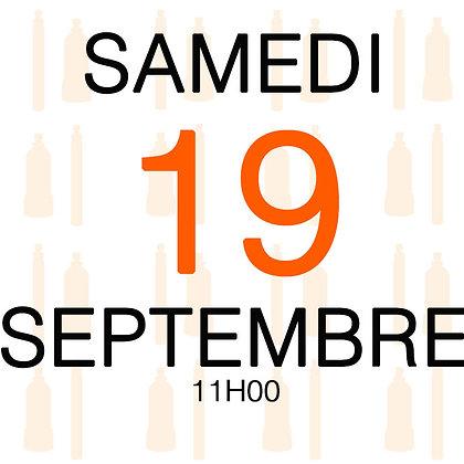 Atelier du Samedi 19 septembre 2020, 11H00