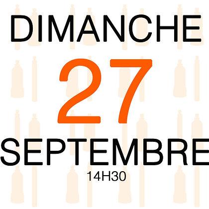 Atelier du Dimanche 27 septembre 2020, 14H30