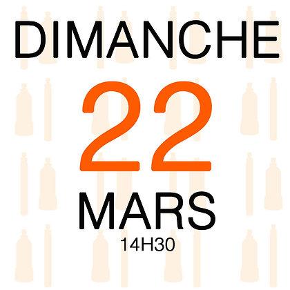 Atelier du Dimanche 22 mars 2020, 14H30