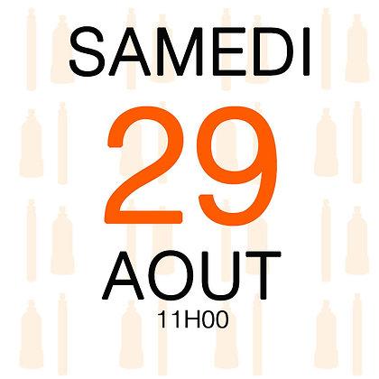 Atelier du Samedi 29 aout 2020, 11H00