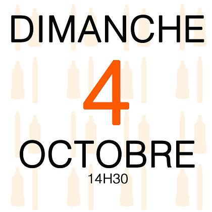Atelier du Dimanche 4 octobre 2020, 14H30