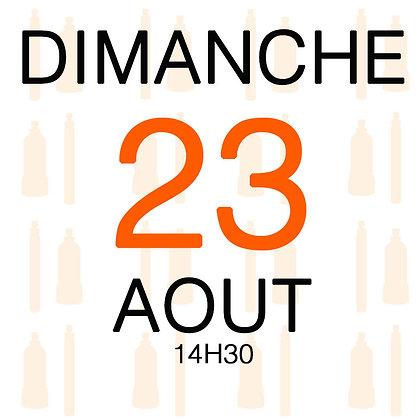 Atelier du Dimanche 23 aout 2020, 14H30