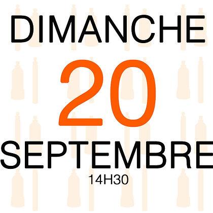 Atelier du Dimanche 20 septembre 2020, 14H30