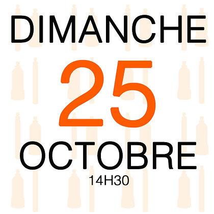 Atelier du Dimanche 25 octobre 2020, 14H30