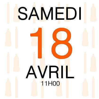 Atelier du Samedi 18 avril 2020, 11H00