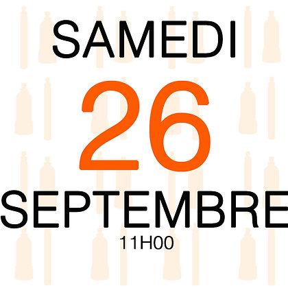 Atelier du Samedi 26 septembre 2020, 11H00