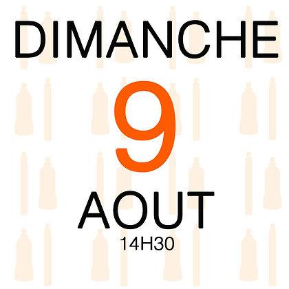 Atelier du Dimanche 9 aout 2020, 14H30