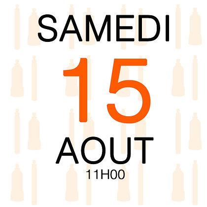 Atelier du Samedi 15 aout 2020, 11H00