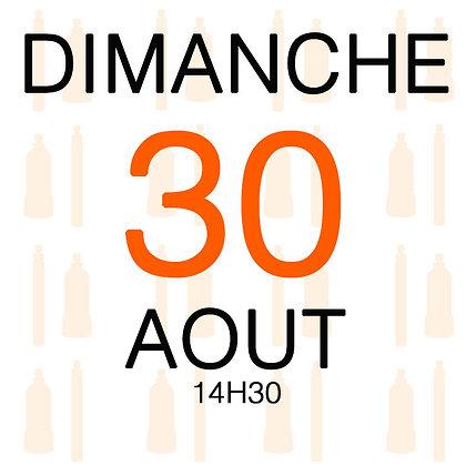 Atelier du Dimanche 30 aout 2020, 14H30