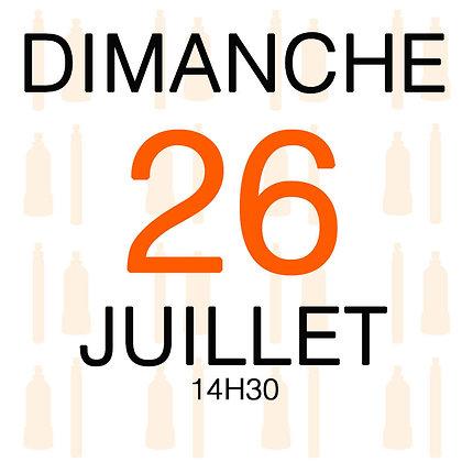 Atelier du Dimanche 26 juillet 2020, 14H30