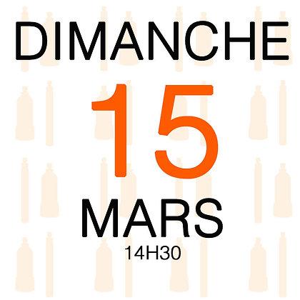 Atelier du Dimanche 15 mars 2020, 14H30