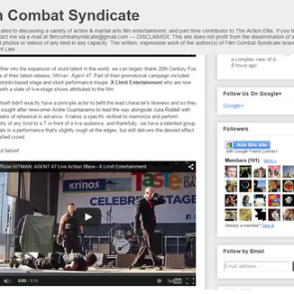 Phi Huynh's choreographed show, HITMAN Agent 47 featured on Film Combat Syndicate
