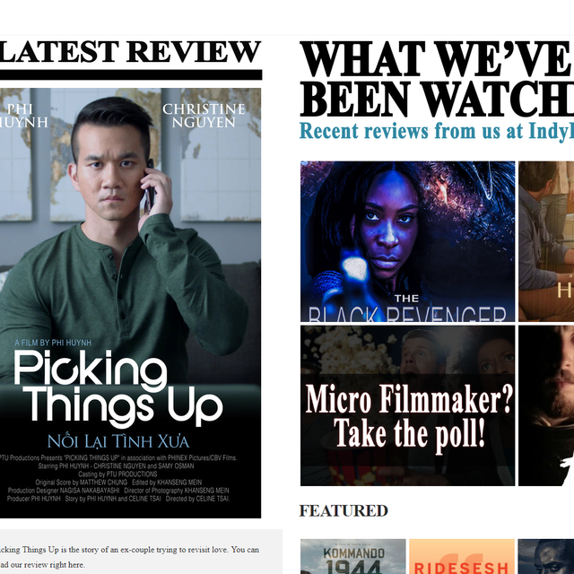 Film Review: Picking Things Up Film - Starring Phi Huynh