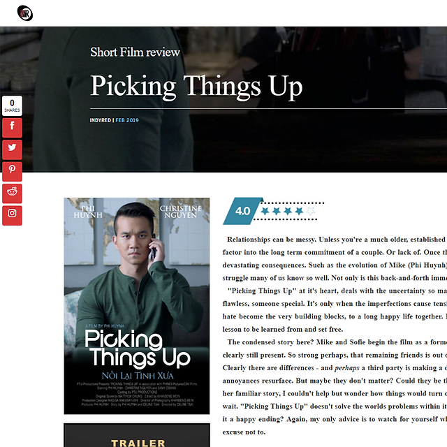 Film Review - Picking Things Up starring Phi Huynh