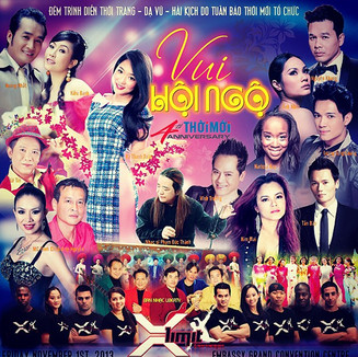 Vietnamese Live Show featuring Phi Huynh on THOI MOI Inc. Newspaper