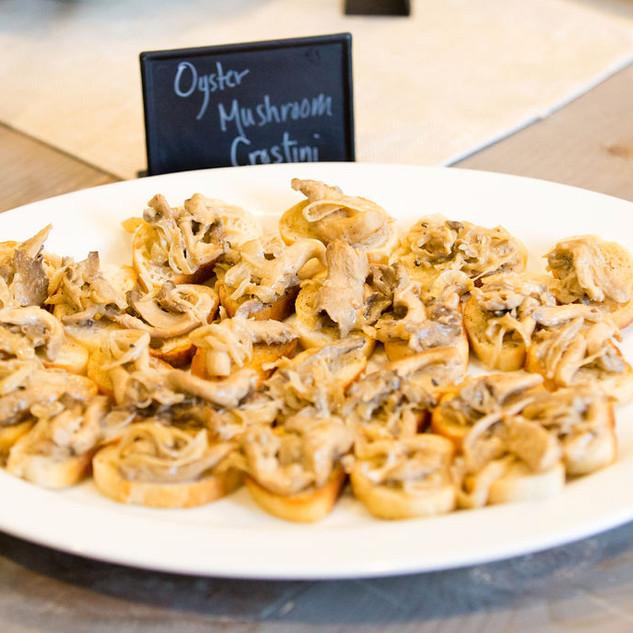 Oyster Mushroom Crostini