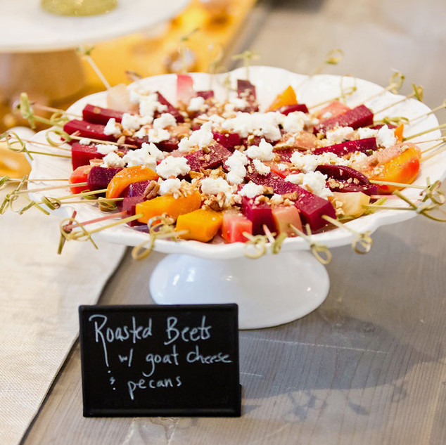 Roasted Beets w/goat cheese and pecans