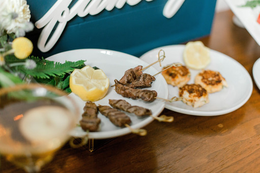 Beef Tenderloin Satay and Mini Crab Cakes