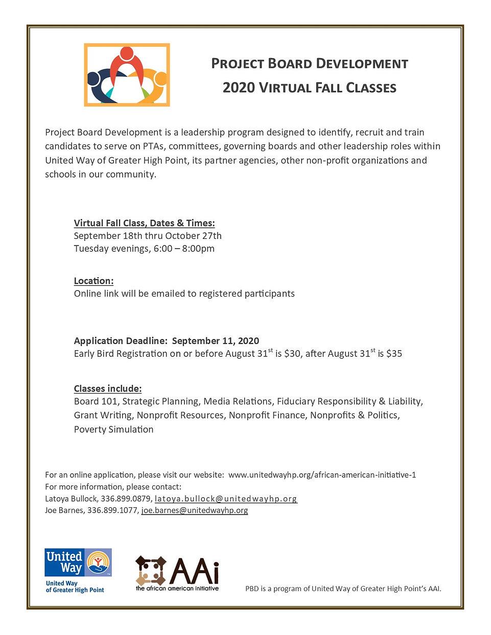 AAI_Fall Virtual Classes Announcement 20