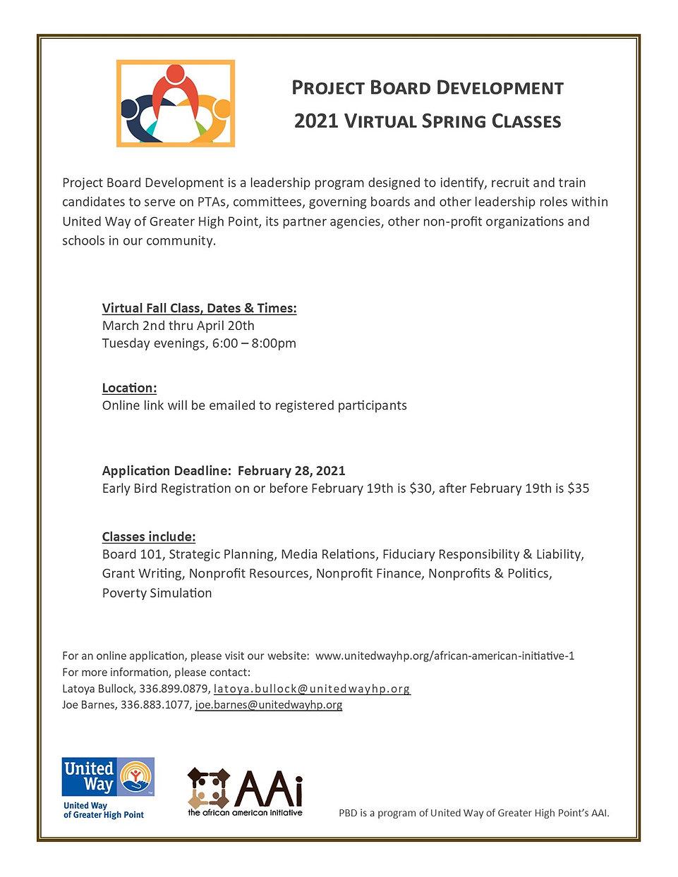 AAI_Spring Virtual Classes Announcement