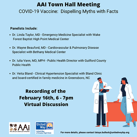 Join the AAI Town Hall Meeting COVID-19