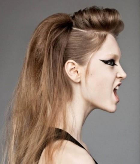 Peinados con tupe y recogido