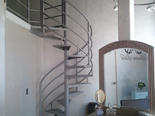 Downtown Hair Salon Spiral Stair